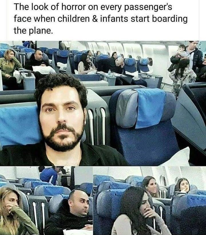 a-child-on-plane