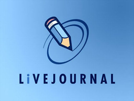 The LiveJournal logo which features a blue pencil doodling on a blue background