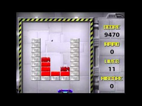 A screenshot of the Brick Breaker game