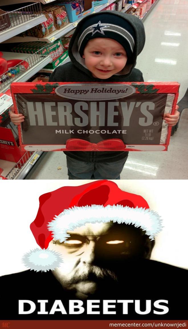 Diabeetus Merry christmas Meme