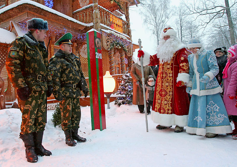 On New Year's Eve the Belarusian Father Frost acts as a chief border guard  | Official Website of the Republic of Belarus