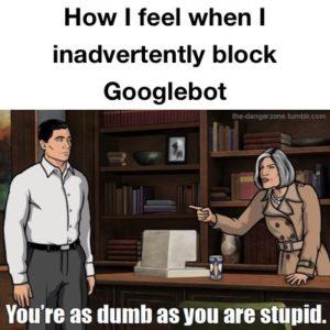 Blocking Google Bot Meme