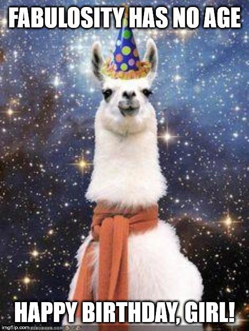 Fabulosity has no age. Happy Birthday, Girl!