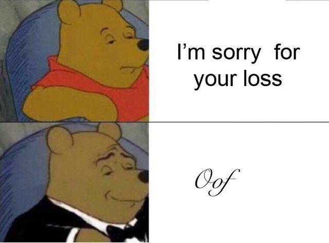 Tuxedo Winnie the Pooh meme with captions,
