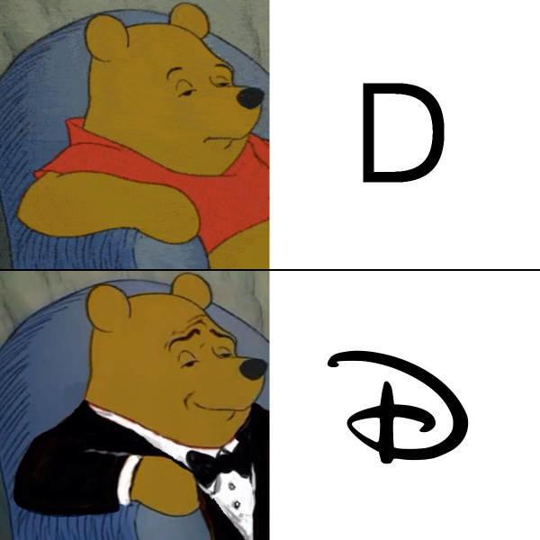 Tuxedo Winnie the pooh meme with a regular