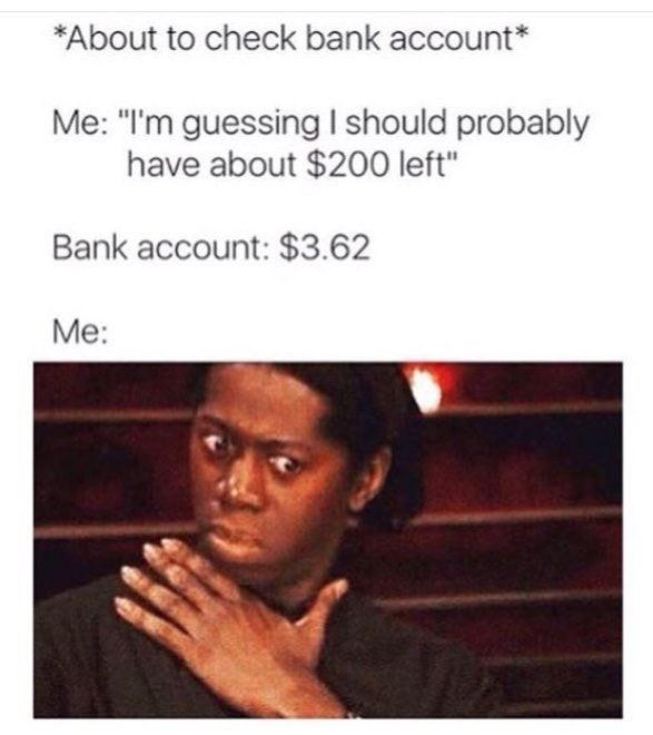 Bank account : memes