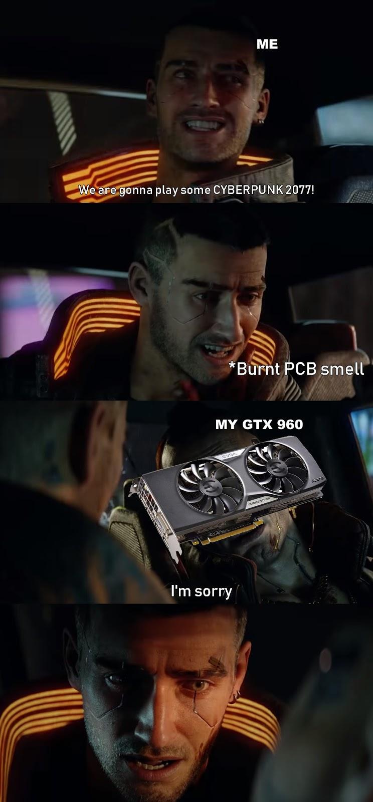 Cyberpunk 2077 Gold Meme