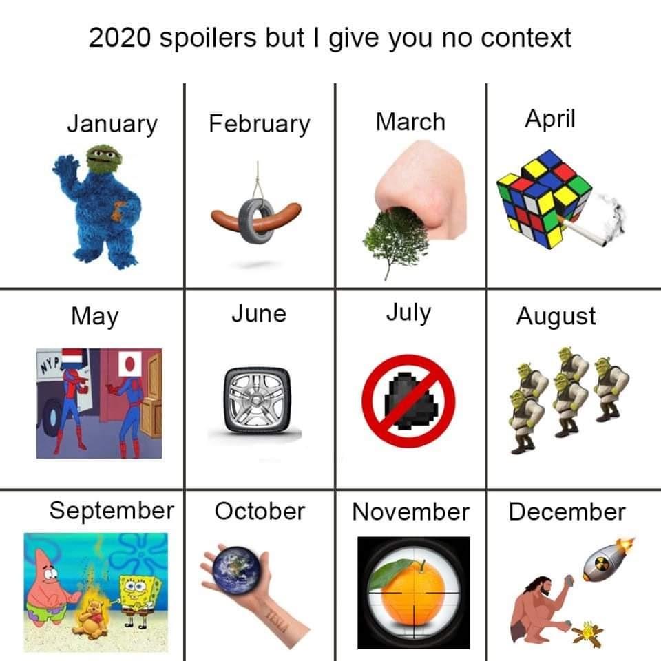 Meme Recap. Can't wait for 2021. : timeshiftedmemes
