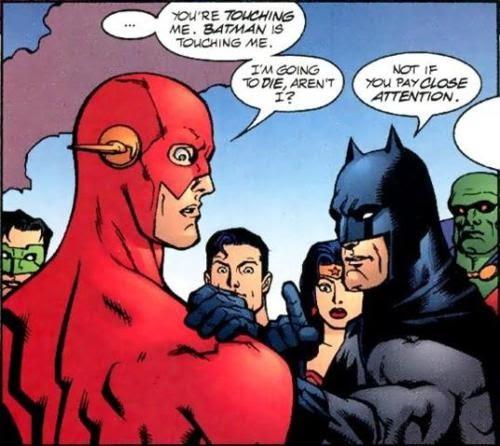 If Batman is being nice something must be wrong. : batman
