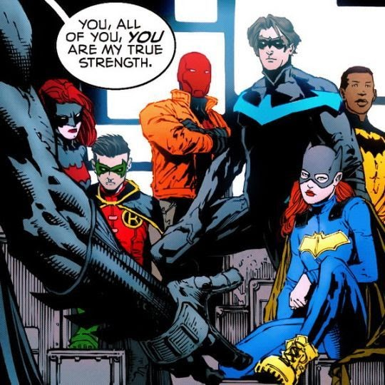 Batfamily. Bruce being nice?? And expressing his feelings?? Sign me up.  Batman # - Be Batman - Ideas of Be Batman #batman #ideas… | Batman family,  Nightwing, Comics
