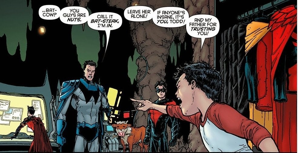Shame on you, Jason Todd! That is not how you talk about a lady [Batman Inc  v2 #6] : DCcomics