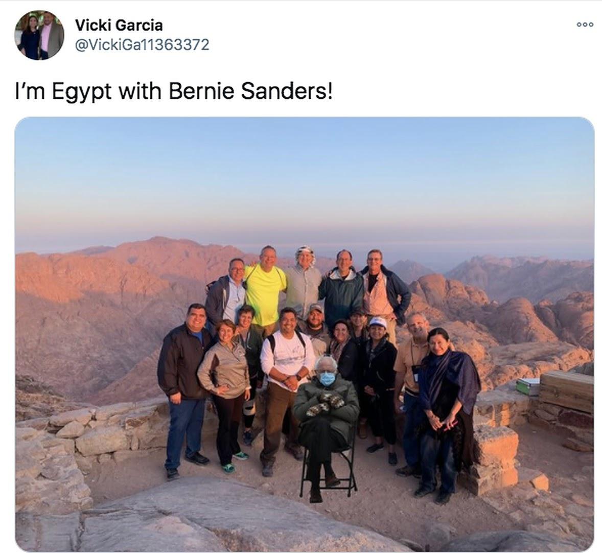 Bernie Sanders Meme Reaches Egypt | Egyptian Streets