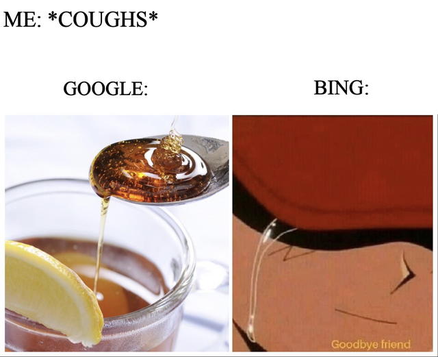 dank meme - Me Coughs Google Bing Goodbye friend