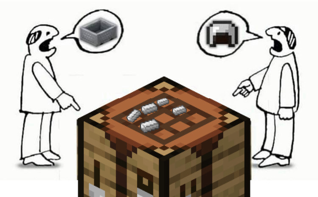 dank meme - minecraft crafting table