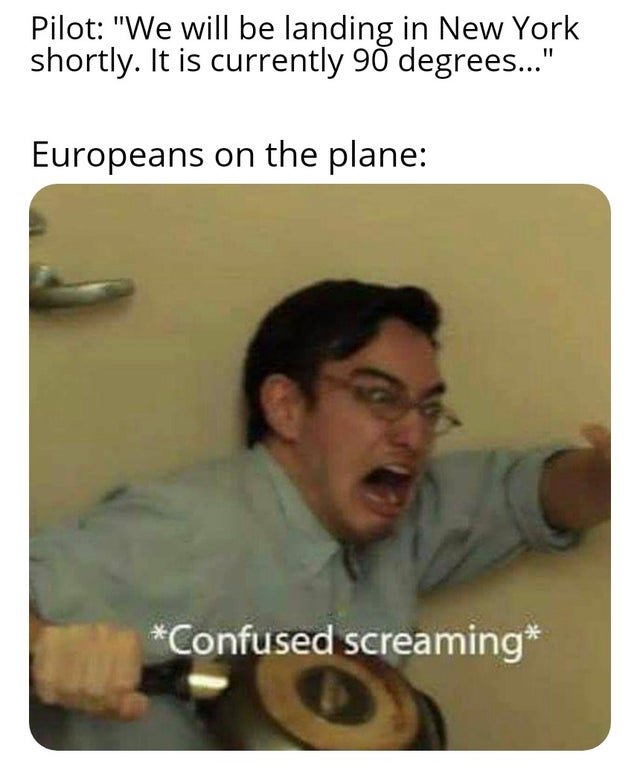 "dank meme - pubg memes - Pilot ""We will be landing in New York shortly. It is currently 90 degrees..."" Europeans on the plane Confused screaming"