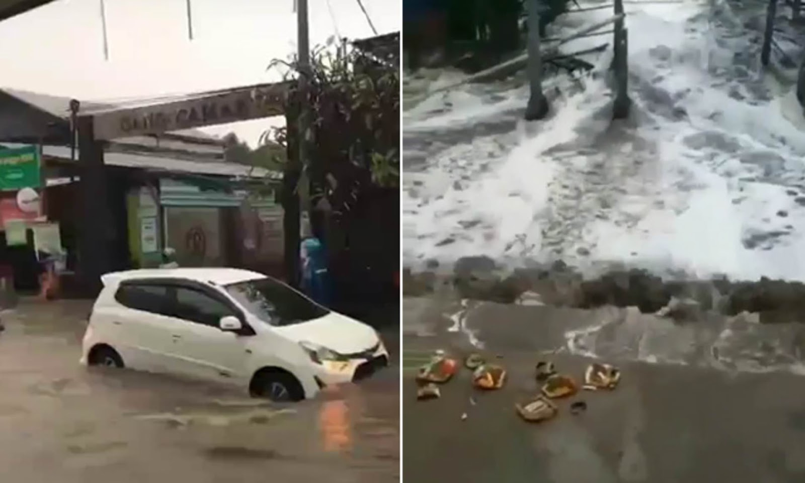 Floodwaters swamp Bali as mini tsunami hits the famous tourist hot spot |  Daily Mail Online