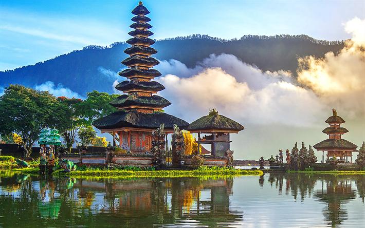 Download wallpapers Pura Ulun Danu Bratan Temple, 4k, Shaivite water  temple, Pura Bratan, Bali, Indonesia, Lake Bratan besthqwallpapers.com in  2021 | Cool places to visit, Places to visit, Cheap countries to travel