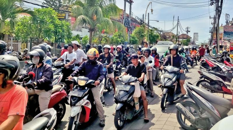 Traffic jams in a paradise called Bali