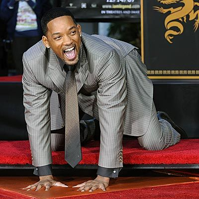 Cool, Great & Handsome Will Smith Star - leaving his hand prints on the  Hollywood Walk of Fame. Awesome. Born in … | Will smith, Hollywood walk of  fame, Hollywood