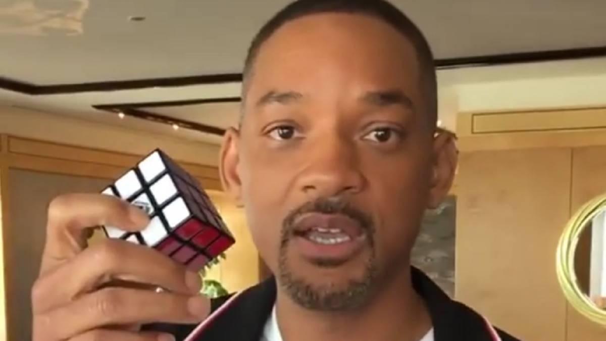 Will Smith resuelve el cubo de Rubik, pero un fan le supera con creces con  un homenaje - AS.com