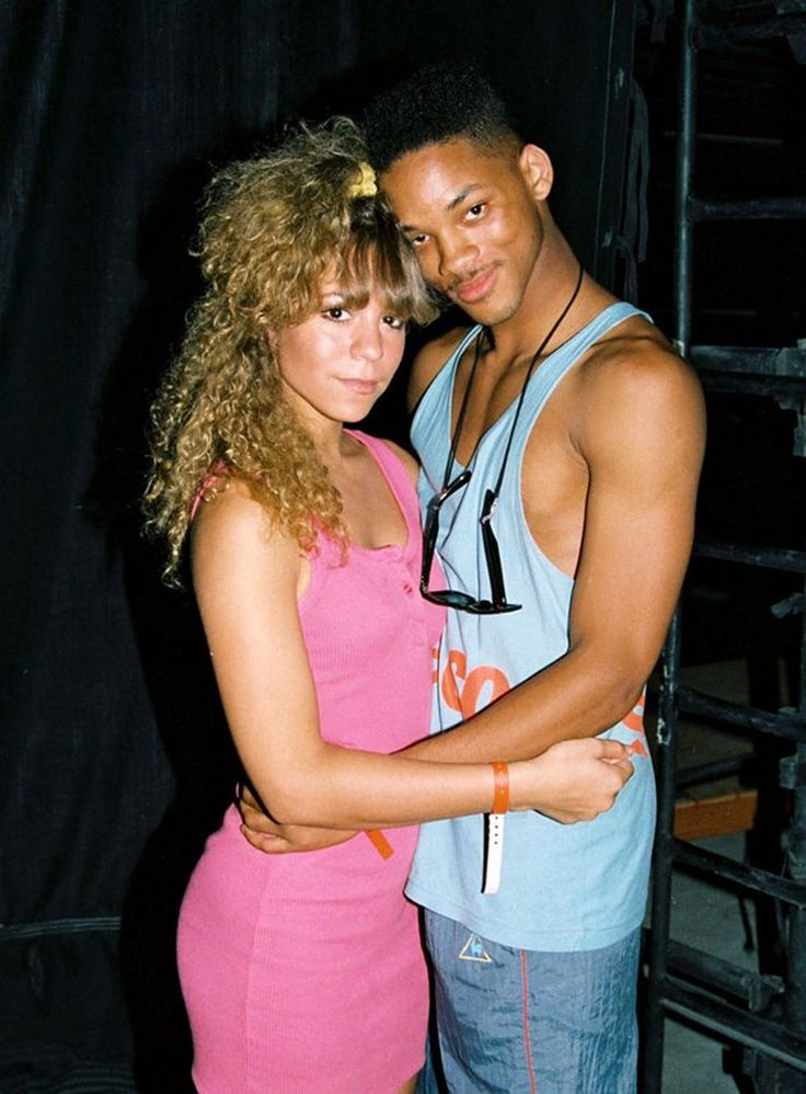18 year old Mariah Carey and 19 year old Will Smith @ 98.7 Kiss FM (no  longer in existence) Summer Jam | Mariah carey, Celebrity photos, Celebrity  pictures