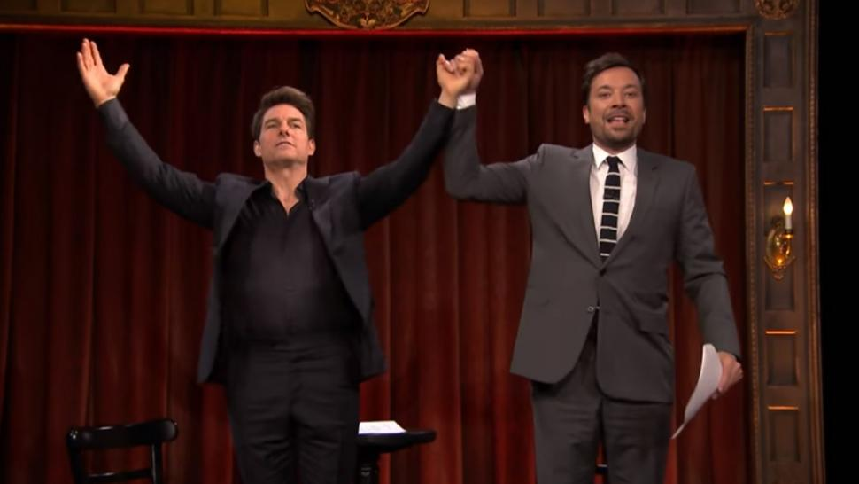 Watch Tom Cruise and Jimmy Fallon Act Out 'Kid Theater' Versions of 'The  Mummy' on 'Tonight Show' | Entertainment Tonight