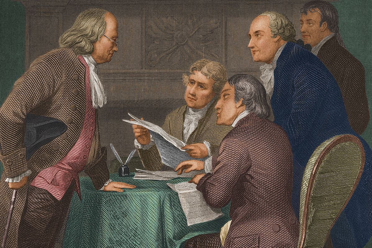 They had printing presses in 1776. So why was the Declaration of  Independence handwritten? - Vox