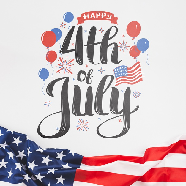 Free PSD | Independence day in united states of america. 4th july