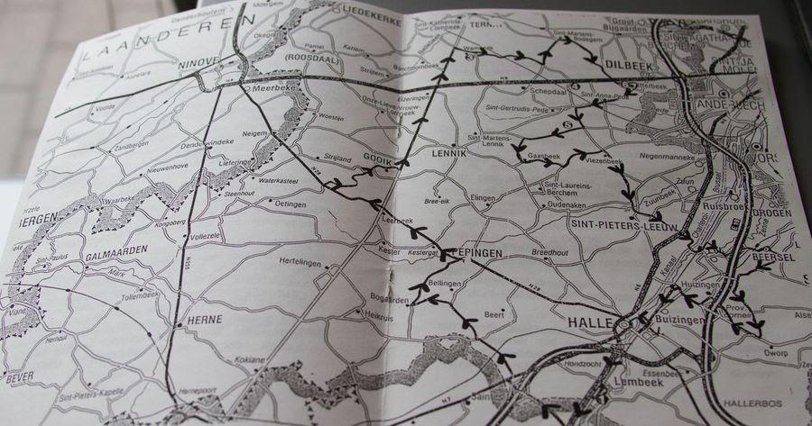 Карта фестиваля Toer de Geuze, который проводился в 1997 году. Это фестиваль в регионе Пайоттенланд, проходящий дважды в год, во время которого можно попасть на бесплатные экскурсии и дегустации гёзов и ламбиков в местные пивоварни / Фото: Lambic.inf